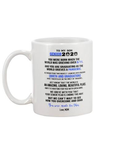 MOM to son senior2020 mug from mom