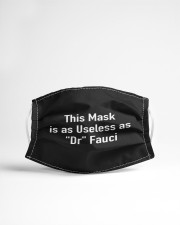 This Mask is as Useless as Dr Fauci Cloth face mask aos-face-mask-lifestyle-22