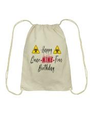 Happy Quar-Nine-Tine Birthday Drawstring Bag tile