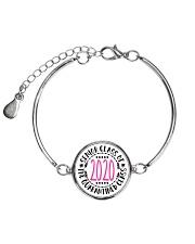 class of 2020 quarantined bracelet tee pouch Metallic Circle Bracelet front