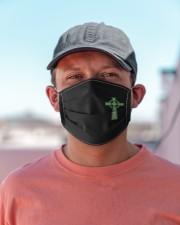 celtic cross irish face mask Cloth face mask aos-face-mask-lifestyle-06