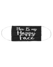 This Is My Happy Face Cloth face mask aos-face-mask-coverlet-lifestyle-front-01