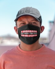 I Disagree But I Respect Your Right To Be Stupid Cloth face mask aos-face-mask-lifestyle-06