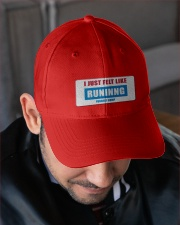 I Just Felt Like RUNNING Embroidered Hat garment-embroidery-hat-lifestyle-02
