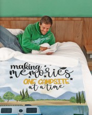 """Personalized Camping Blanket 30 Large Sherpa Fleece Blanket - 60"""" x 80"""" aos-sherpa-fleece-blanket-60x80-lifestyle-front-07"""