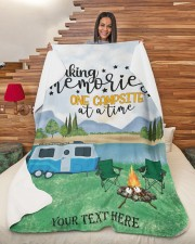 """Personalized Camping Blanket 30 Large Sherpa Fleece Blanket - 60"""" x 80"""" aos-sherpa-fleece-blanket-60x80-lifestyle-front-11"""