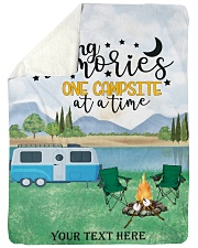 """Personalized Camping Blanket 30 Large Sherpa Fleece Blanket - 60"""" x 80"""" front"""