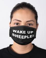 Wake up sheeple  Cloth face mask aos-face-mask-lifestyle-01
