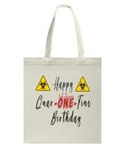 Happy Quar-One-Tine Birthday Tote Bag tile