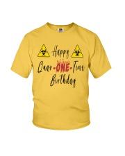 Happy Quar-One-Tine Birthday Youth T-Shirt tile