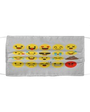 smile face Cloth face mask front