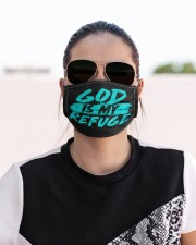 God Is My Refuge Cloth face mask aos-face-mask-lifestyle-02