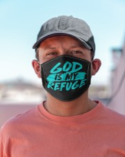 God Is My Refuge Cloth face mask aos-face-mask-lifestyle-06