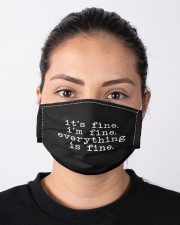 It's Fine I'm Fine Everything Is Fine Face Mask Cloth face mask aos-face-mask-lifestyle-01