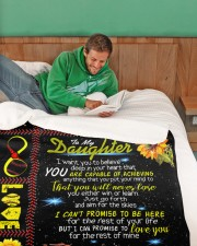 """Personalized Softball - To My Danghter Large Sherpa Fleece Blanket - 60"""" x 80"""" aos-sherpa-fleece-blanket-60x80-lifestyle-front-07"""