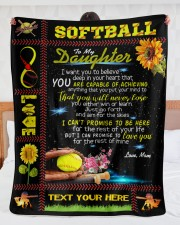 """Personalized Softball - To My Danghter Large Sherpa Fleece Blanket - 60"""" x 80"""" aos-sherpa-fleece-blanket-60x80-lifestyle-front-23"""