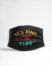 I's Fine I'm Fine Everything Fine Cloth face mask aos-face-mask-lifestyle-22