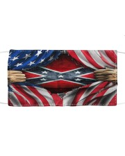 southern american flag mask Cloth face mask front