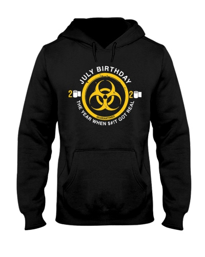 JULY birthday quarantine symbol