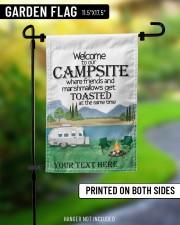 """Personalized Camping  Garden Flag 1 11.5""""x17.5"""" Garden Flag aos-garden-flag-11-5-x-17-5-lifestyle-front-08"""
