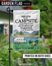"""Personalized Camping  Garden Flag 1 11.5""""x17.5"""" Garden Flag aos-garden-flag-11-5-x-17-5-lifestyle-front-13"""
