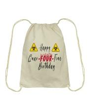 Happy Quar-Four-Tine Birthday Drawstring Bag tile