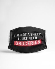 I am not a sheep - i just need Groceries Cloth face mask aos-face-mask-lifestyle-22