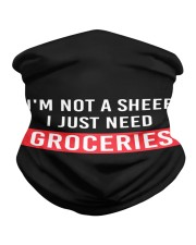 I am not a sheep - i just need Groceries Neck Gaiter tile