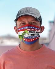 I'm Alive On Election Day v2 Cloth face mask aos-face-mask-lifestyle-06