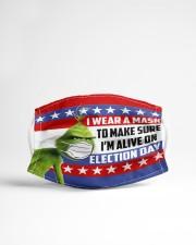 I'm Alive On Election Day v2 Cloth face mask aos-face-mask-lifestyle-22
