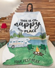 """Personalized Camping Blanket 7 Large Sherpa Fleece Blanket - 60"""" x 80"""" aos-sherpa-fleece-blanket-60x80-lifestyle-front-11"""