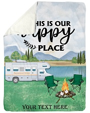 """Personalized Camping Blanket 7 Large Sherpa Fleece Blanket - 60"""" x 80"""" front"""