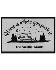 """Custom name doormat - Home is where you park it 02 Doormat 22.5"""" x 15""""  front"""