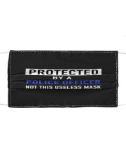 protected by POLICE OFFICER mask copy Cloth face mask front