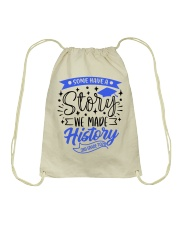 3rd grade-history-green blue Drawstring Bag tile