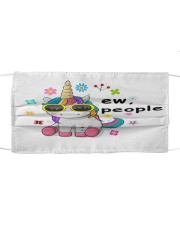 ew people unicorn face mask Cloth face mask front