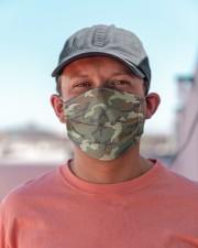 Patriotic  - Military Camo Green Cloth face mask aos-face-mask-lifestyle-06