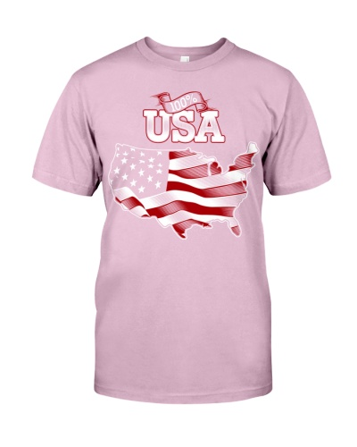100 percent USA American Flag Support the USA