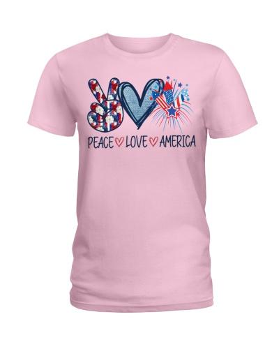 Peace Love America T-shirt face coverings