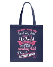 Proud Autism Mom Tote Bag thumbnail