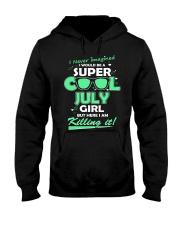 Super cool July Girl Hooded Sweatshirt thumbnail
