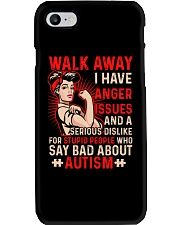 Walk away - I have anger issues Phone Case thumbnail