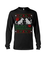 Meowy Christmas - Ugly Sweater Long Sleeve Tee thumbnail