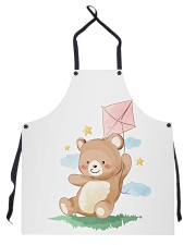Funny animals bear watercolor-6 Apron tile