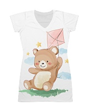 Funny animals bear watercolor-6 All-over Dress thumbnail