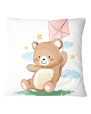 Funny animals bear watercolor-6 Square Pillowcase tile