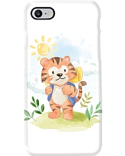 cat camping watercolor Phone Case thumbnail