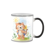 cat camping watercolor Color Changing Mug thumbnail