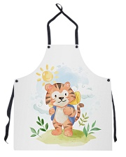 cat camping watercolor Apron thumbnail