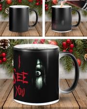 Halloween I see you creepy eyes magic mug Color Changing Mug ceramic-color-changing-mug-lifestyle-43